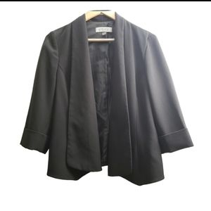 Kasper Black Suit Career Blazer Coat Jacket Top
